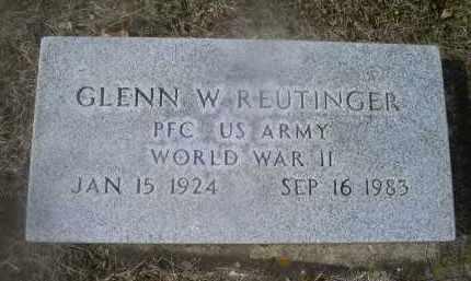 REUTINGER, GLENN W. - Ross County, Ohio | GLENN W. REUTINGER - Ohio Gravestone Photos