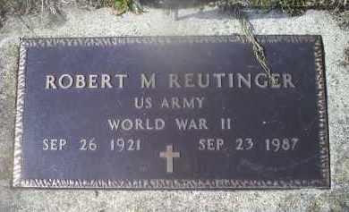 REUTINGER, ROBERT M. - Ross County, Ohio | ROBERT M. REUTINGER - Ohio Gravestone Photos