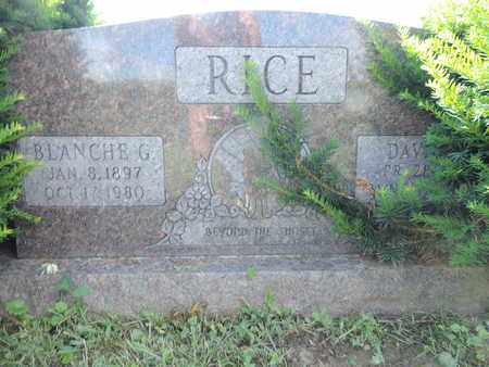RICE, BLANCHE G. - Ross County, Ohio | BLANCHE G. RICE - Ohio Gravestone Photos
