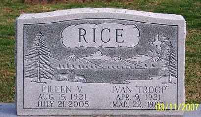 RICE, EILEEN V. - Ross County, Ohio | EILEEN V. RICE - Ohio Gravestone Photos