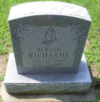 RICHARDS, BENTON - Ross County, Ohio | BENTON RICHARDS - Ohio Gravestone Photos