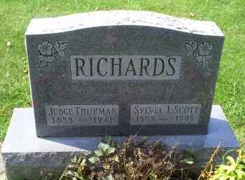 RICHARDS, JUDGE THURMAN - Ross County, Ohio | JUDGE THURMAN RICHARDS - Ohio Gravestone Photos