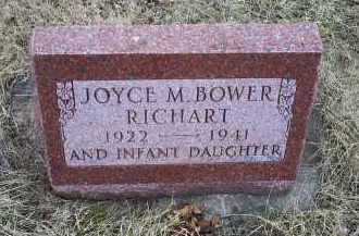BOWER RICHART, JOYCE M. - Ross County, Ohio | JOYCE M. BOWER RICHART - Ohio Gravestone Photos