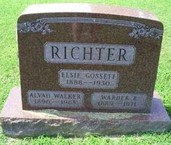 GOSSETT RICHTER, ELSIE - Ross County, Ohio | ELSIE GOSSETT RICHTER - Ohio Gravestone Photos