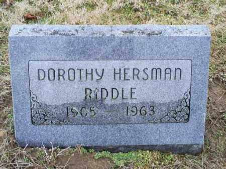 HERSMAN RIDDLE, DOROTHY - Ross County, Ohio | DOROTHY HERSMAN RIDDLE - Ohio Gravestone Photos