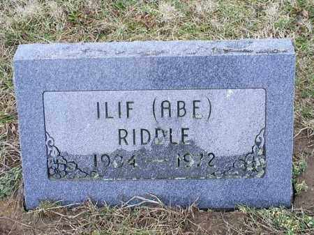 "RIDDLE, ILIF ""ABE"" - Ross County, Ohio 