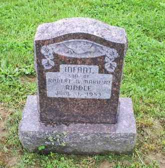 RIDDLE, INFANT - Ross County, Ohio | INFANT RIDDLE - Ohio Gravestone Photos