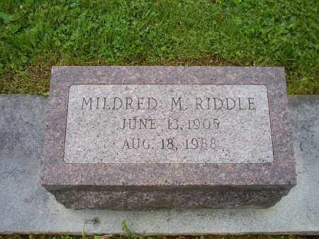 RIDDLE, MILDRED M. - Ross County, Ohio | MILDRED M. RIDDLE - Ohio Gravestone Photos