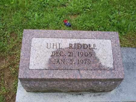 RIDDLE, UHL - Ross County, Ohio | UHL RIDDLE - Ohio Gravestone Photos