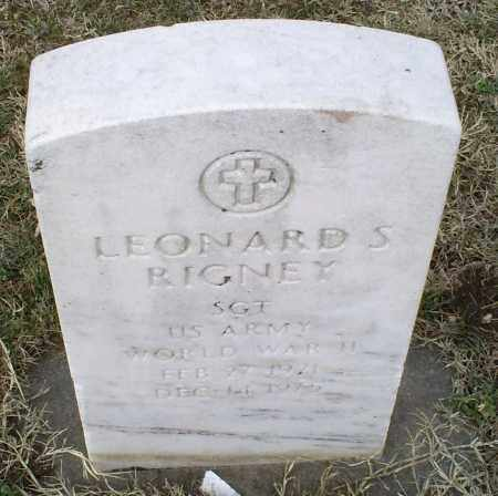 RIGNEY, LEONARD S. - Ross County, Ohio | LEONARD S. RIGNEY - Ohio Gravestone Photos