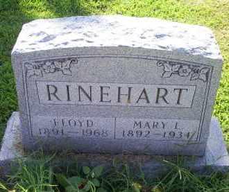 RINEHART, MARY L. - Ross County, Ohio | MARY L. RINEHART - Ohio Gravestone Photos