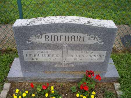 RINEHART, MARTHA - Ross County, Ohio | MARTHA RINEHART - Ohio Gravestone Photos
