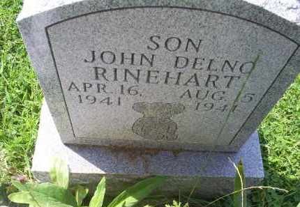 RINEHART, JOHN DELNO - Ross County, Ohio | JOHN DELNO RINEHART - Ohio Gravestone Photos