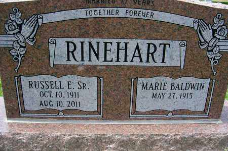 RINEHART, RUSSELL E - Ross County, Ohio | RUSSELL E RINEHART - Ohio Gravestone Photos