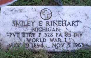 RINEHART, SMILEY E. - Ross County, Ohio | SMILEY E. RINEHART - Ohio Gravestone Photos