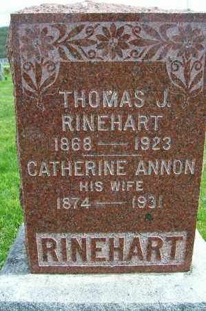 RINEHART, CATHERINE - Ross County, Ohio | CATHERINE RINEHART - Ohio Gravestone Photos