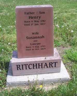 LAWYER RITCHHART, SUSANNAH - Ross County, Ohio | SUSANNAH LAWYER RITCHHART - Ohio Gravestone Photos