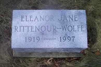 RITTENOUR-WOLFE, ELEANOR JANE - Ross County, Ohio | ELEANOR JANE RITTENOUR-WOLFE - Ohio Gravestone Photos
