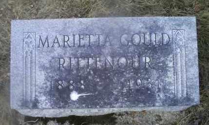 GOULD RITTENOUR, MARIETTA - Ross County, Ohio | MARIETTA GOULD RITTENOUR - Ohio Gravestone Photos