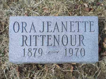 RITTENOUR, ORA JEANETTE - Ross County, Ohio | ORA JEANETTE RITTENOUR - Ohio Gravestone Photos