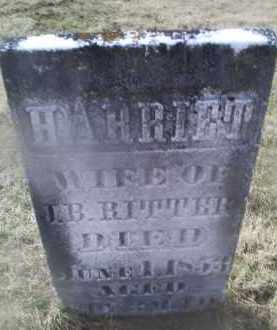 RITTER, HARRIETT - Ross County, Ohio | HARRIETT RITTER - Ohio Gravestone Photos