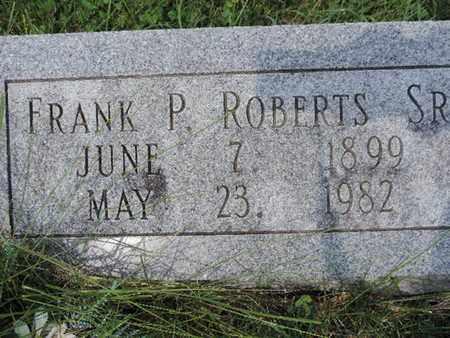 ROBERTS, FRANK P - Ross County, Ohio | FRANK P ROBERTS - Ohio Gravestone Photos