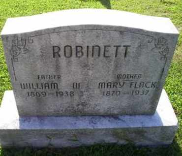 FLACK ROBINETT, MARY - Ross County, Ohio | MARY FLACK ROBINETT - Ohio Gravestone Photos