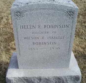 ROBINSON, HELEN E. - Ross County, Ohio | HELEN E. ROBINSON - Ohio Gravestone Photos