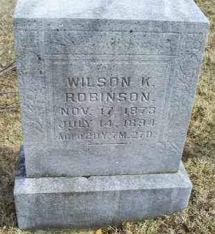 ROBINSON, WILSON K. - Ross County, Ohio | WILSON K. ROBINSON - Ohio Gravestone Photos