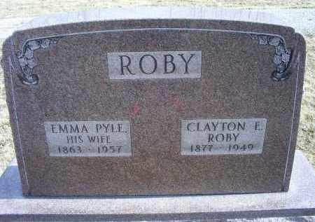 PYLE ROBY, EMMA - Ross County, Ohio | EMMA PYLE ROBY - Ohio Gravestone Photos
