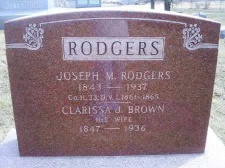 RODGERS, JOSEPH M. - Ross County, Ohio | JOSEPH M. RODGERS - Ohio Gravestone Photos