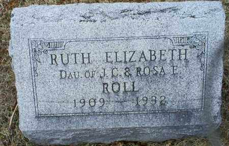 ROLL, RUTH ELIZABETH - Ross County, Ohio | RUTH ELIZABETH ROLL - Ohio Gravestone Photos