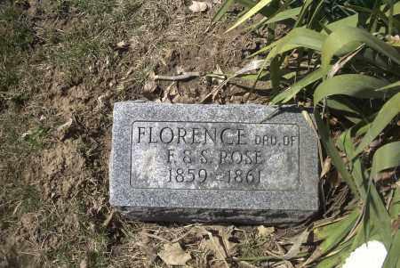ROSE, FLORENCE - Ross County, Ohio   FLORENCE ROSE - Ohio Gravestone Photos