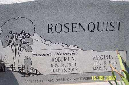 ROSENQUIST, ROBERT N. - Ross County, Ohio | ROBERT N. ROSENQUIST - Ohio Gravestone Photos