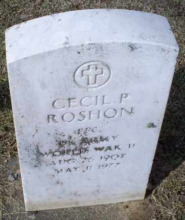 ROSHON, CECIL P. - Ross County, Ohio | CECIL P. ROSHON - Ohio Gravestone Photos