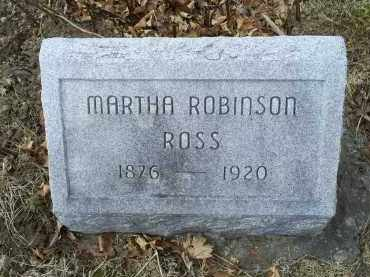 ROSS, MARTHA - Ross County, Ohio | MARTHA ROSS - Ohio Gravestone Photos