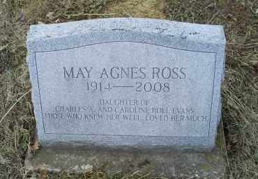 ROSS, MAY AGNES - Ross County, Ohio | MAY AGNES ROSS - Ohio Gravestone Photos