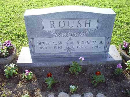 ROUSH, DEWEY A. SR. - Ross County, Ohio | DEWEY A. SR. ROUSH - Ohio Gravestone Photos