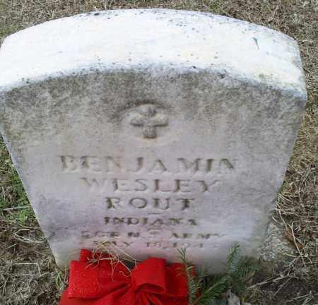 ROUT, BENJAMIN WESLEY - Ross County, Ohio | BENJAMIN WESLEY ROUT - Ohio Gravestone Photos
