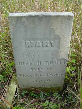 ROUTT, MARY - Ross County, Ohio | MARY ROUTT - Ohio Gravestone Photos