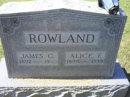 ROWLAND, JAMES C. - Ross County, Ohio | JAMES C. ROWLAND - Ohio Gravestone Photos