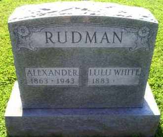 WHITE RUDMAN, LULU - Ross County, Ohio | LULU WHITE RUDMAN - Ohio Gravestone Photos