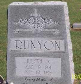RUNYON, JUDITH A. - Ross County, Ohio | JUDITH A. RUNYON - Ohio Gravestone Photos