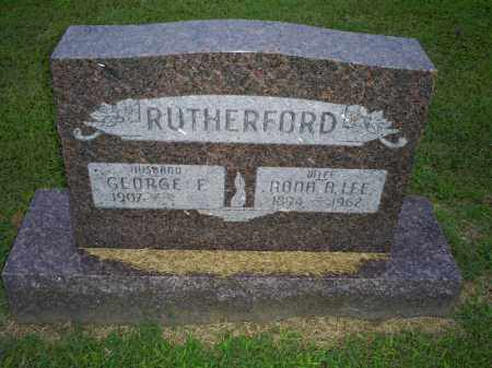 LEE RUTHERFORD, NONA A. - Ross County, Ohio | NONA A. LEE RUTHERFORD - Ohio Gravestone Photos