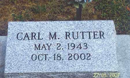 RUTTER, CARL M. - Ross County, Ohio | CARL M. RUTTER - Ohio Gravestone Photos