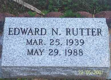 RUTTER, EDWARD N. - Ross County, Ohio | EDWARD N. RUTTER - Ohio Gravestone Photos