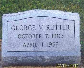 RUTTER, GEORGE V. - Ross County, Ohio | GEORGE V. RUTTER - Ohio Gravestone Photos