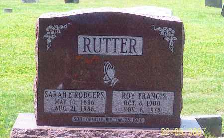 RUTTER, ROY FRANCES - Ross County, Ohio | ROY FRANCES RUTTER - Ohio Gravestone Photos