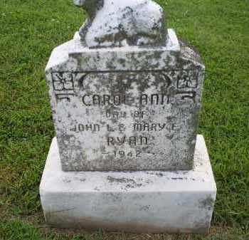RYAN, CAROL ANN - Ross County, Ohio | CAROL ANN RYAN - Ohio Gravestone Photos