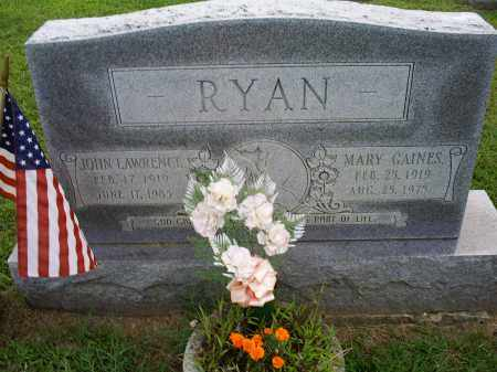 RYAN, JOHN LAWRENCE - Ross County, Ohio | JOHN LAWRENCE RYAN - Ohio Gravestone Photos